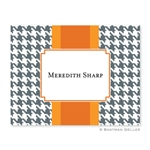 Alex Houndstooth Gray Folded Note