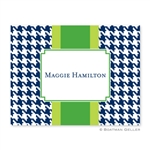 Alex Houndstooth Navy Folded Note