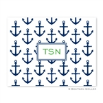 Anchors Navy Folded Note