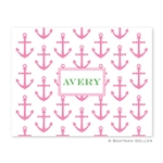 Anchors Pink Folded Note