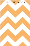 Orange Chevron Notepad