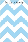 Blue Chevron Notepad