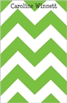 Green Chevron Notepad