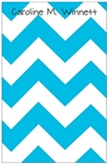 Robins Egg Chevron Notepad