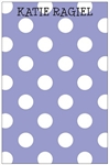 Purple + White Dot Notepad