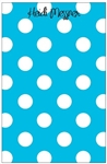 Robin's Egg Blue + White Dot Notepad