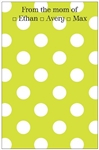 Lime + White Dot Notepad
