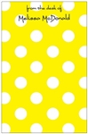 Yellow + White Dot Notepad