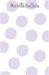 Lavender Large Dot Notepad