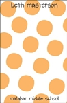 Orange Large Dot Notepad