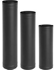 Black pipe single wall 6 inch diameter