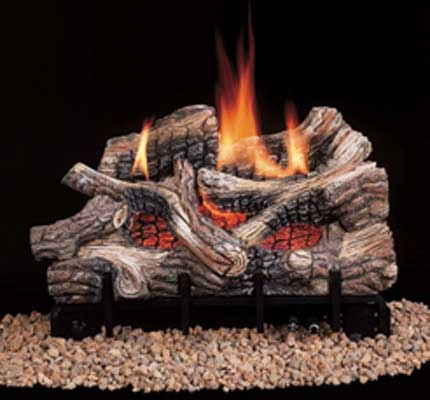 Comfort Flame Vent Free Gas Log Set River Canyon Oak