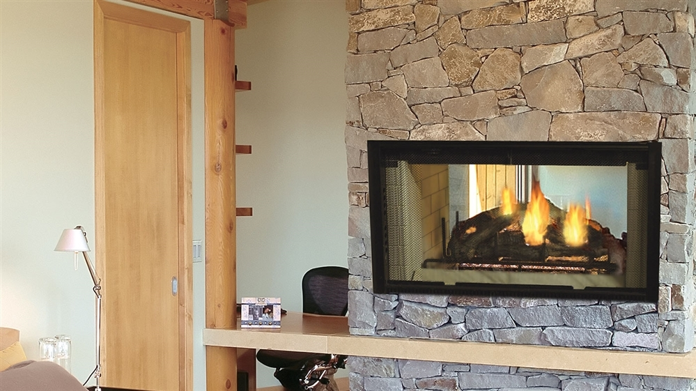 Majestic Wood Fireplace Designer See-Through 42""
