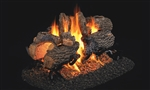 Peterson Real Fyre Vented See-Through Gas Log Set Charred Oak