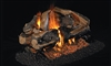 Peterson Real Fyre Vented See-Thru Gas Log Set Charred Rugged Split Oak