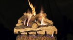 Peterson Real Fyre Vented Gas Log Set Split Oak Designer Plus