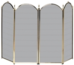Uniflame Specialty Line 4 Fold Polished Brass Fireplace Screen