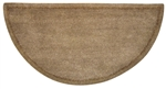 Uniflame Beige Hand-Tufted 100% Wool Hearth Rug