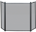 Uniflame Specialty Line 3 Fold Black Fireplace Screen