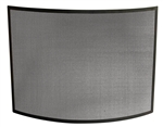 Uniflame Single Panel Black Curved Fireplace Screen