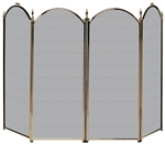 Uniflame Specialty Line 4 Fold Antique Brass Fireplace Screen