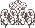Uniflame Single Panel Bronze Cast Aluminum Fireplace Screen