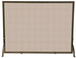 Uniflame Bronze Single Fold Fireplace Screen
