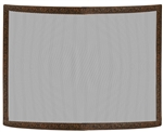 Uniflame Single Panel Antique Copper Patina Embossed Curved Fireplace Screen