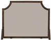 Uniflame Single Panel Antique Copper Patina Embossed Fireplace Screen