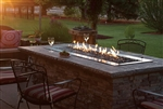 White Mountain Hearth by Empire Outdoor Linear Gas Fire Pit 60""