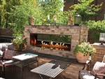 White Mountain Hearth by Empire Ventless Outdoor See-Through Gas Fireplace 48""