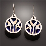 Sterling Silver, 14k yellow gold-filled and Niobium Earrings (110.syn)