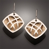 Sterling Silver and 14k Bi-Metal Earrings (116.sb)