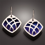 Sterling Silver and Niobium Earrings (116.sn)