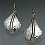 Sterling Silver Hammered Earrings (126H.s)