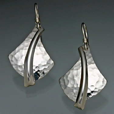 Sterling Silver Hammered Earrings 126h S