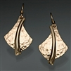 14k Gold Filled Hammered Earrings (126H.y)