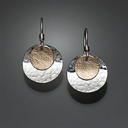 Sterling Silver and 14k Bi-Metal Earrings (150.bs)