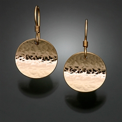 14K Gold Filled Hammered Earrings (150H.y)