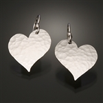Sterling Silver Hammered Heart Earrings (151.s)