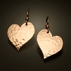 14K Gold Filled Hammered Heart Earrings (151.y)
