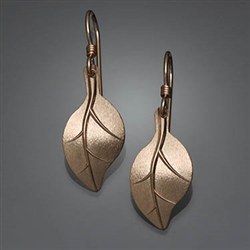 14k Gold Filled Hammered Earrings (155L.y)
