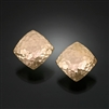 14K Gold Filled Hammered Earrings (156H.y)