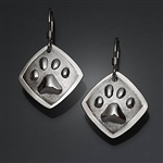 Sterling Silver Paw Print Earrings (156P.s)