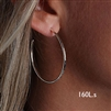 Sterling Silver Hoop Earrings (160L.s)