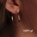 14K Rose Gold Filled Hoop Earrings (160M.r)