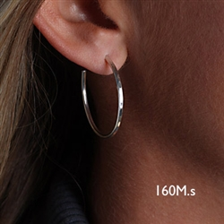 Sterling Silver Hoop Earrings (160M.s)