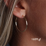 14k Gold Filled Hoop Earrings (160M.y)