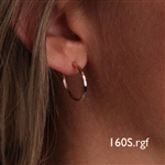 14K Rose Gold Filled Hoop Earrings (160S.r)