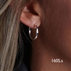 Sterling Silver Hoop Earrings (160S.s)